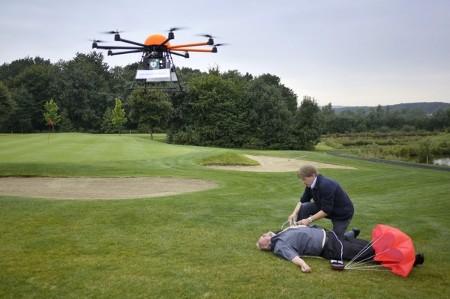 Levensreddend gebruik drone